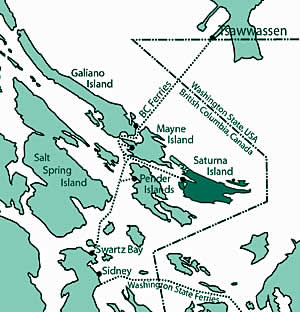 Map of Saturna Island